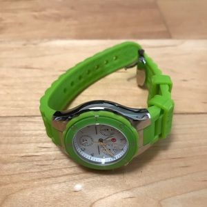 NWOT Michele green jelly watch